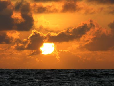 Our last sunset at sea in 2006